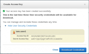 IAM User Keys