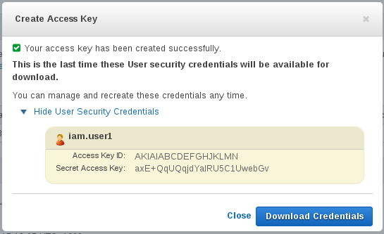 AWS NZ - Access & Secret Keys