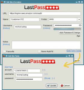 LastPass - save more form fields