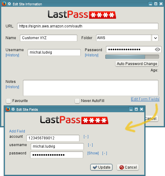 AWS NZ - Using LastPass with AWS Console