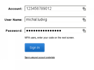 AWS Console login