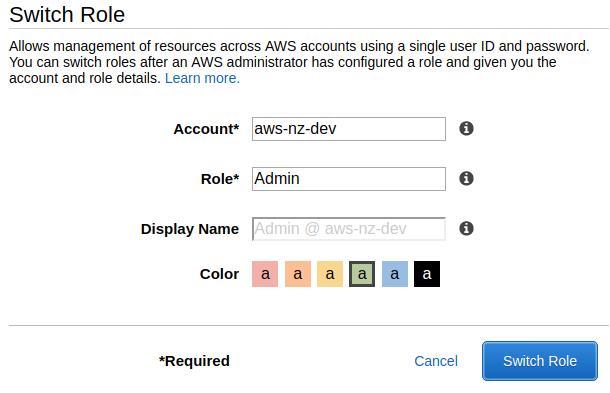 AWS NZ - Using Cross-account access (AWS Console)